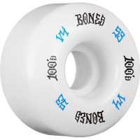 Bones - 100's White 53mm V4 skateboardhjul