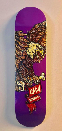 "Cash skateboards - ""Eagle Purple"""