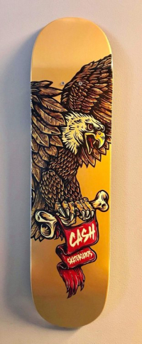 "Cash skateboards - ""Eagle Gold"""