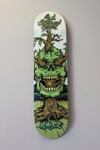 "Cash skateboards - ""Tree skull"""
