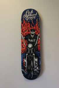 "Cash skateboards - ""skull biker"""