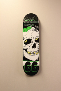 "Cash skateboards - ""Screw skull"""