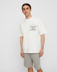 Adidas - Outline T-shirt - Regular fit - Vit