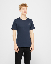 Nike - TEE CLUB EMBRD T-shirt - Regular fit - Navy