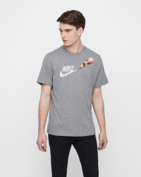 Nike - M NSW TEE REMIX T-shirts - Slim fit - Grå