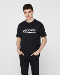 Adidas - Tee T-shirt - Regular fit - Svart