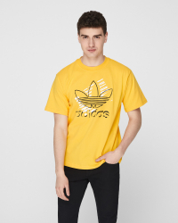 Adidas - Art Tee T-shirt - Regular fit - Gul