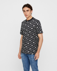 Adidas - Monogram T-shirt - Regular fit - Svart