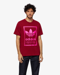 Adidas - Vintage Tee T-shirt - Regular fit - Bordeaux