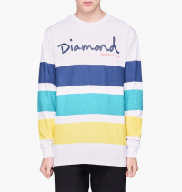 Diamond Supply Co. - OG Script Striped Long Sleeve Tee
