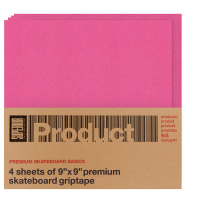 "Superior -  ""4 Sheets 9×9"" Griptape Rosa"
