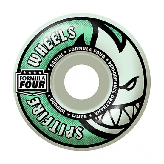 "Spitfire Wheels  Formula Four Radial"" – Glow in the dark – 53mm 101A"