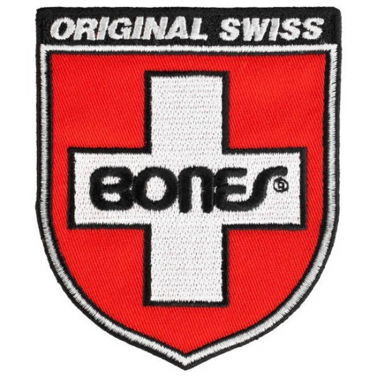 "Bones Swiss Shield Patch"" – Tygmärke"