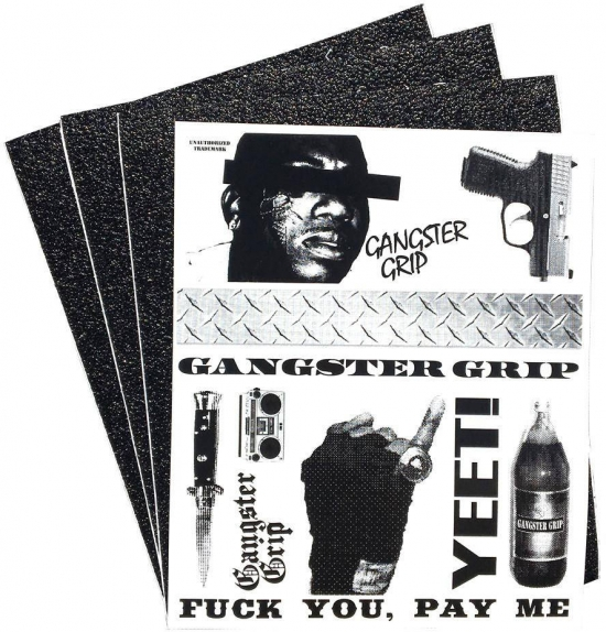 Real Flypaper Gangster Skateboard Griptape 3-pack